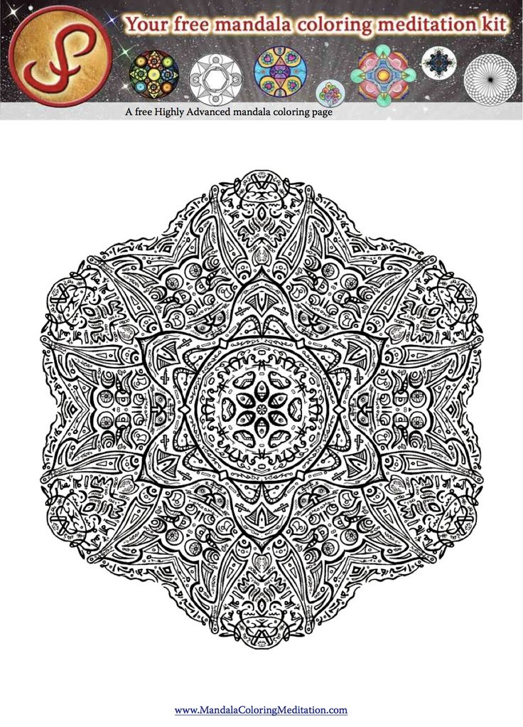 Advanced Mandala Coloring Pages