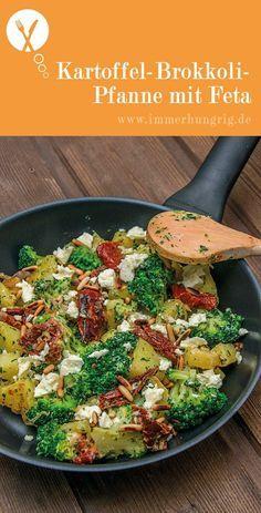 Kartoffel-Brokkoli-Pfanne mit Feta