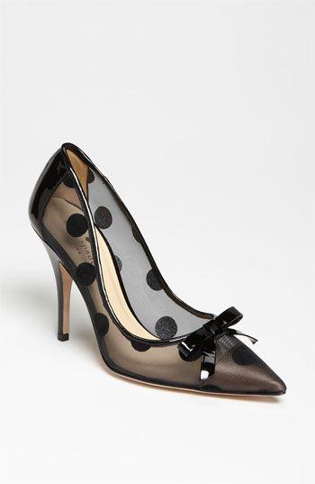 "Kate Spade ""Lisa""...black polka dots...how appropriate!"