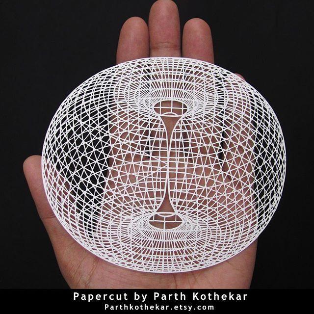 #geometric #3d #papercut  #handmade #handcut #papercuts #craft #hair #line #lineart #paper #art #papercraft #papercutting #illustration #ohpapercuts #follow #etsy #shop #parthkothekar #etsyseller #etsyshop #papercutbyparthkothekar