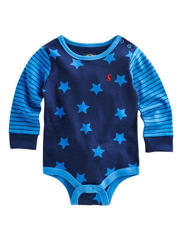 rayas y estrellas  BABY BARNEY Baby Boys Baby Grow