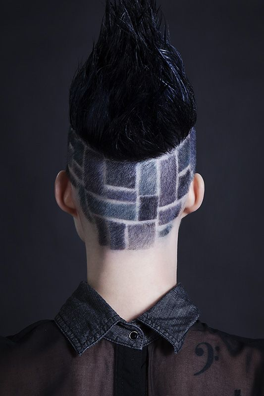 Dyed Shaved Hair Design Haircut Hairstyles Pinterest