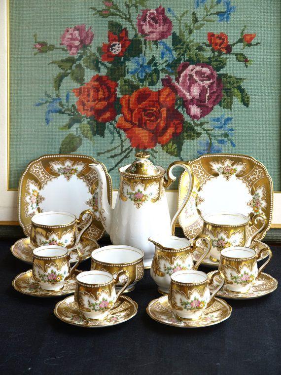 Royal albert royalty Tea set 1930S by ShelleyTeaRoom on Etsy