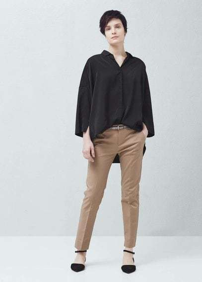 Mango Outlet Straight cotton trousers