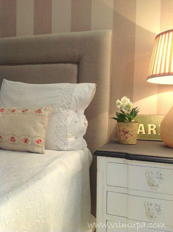 cabecero cama tapizado con amplio remate vilmupa