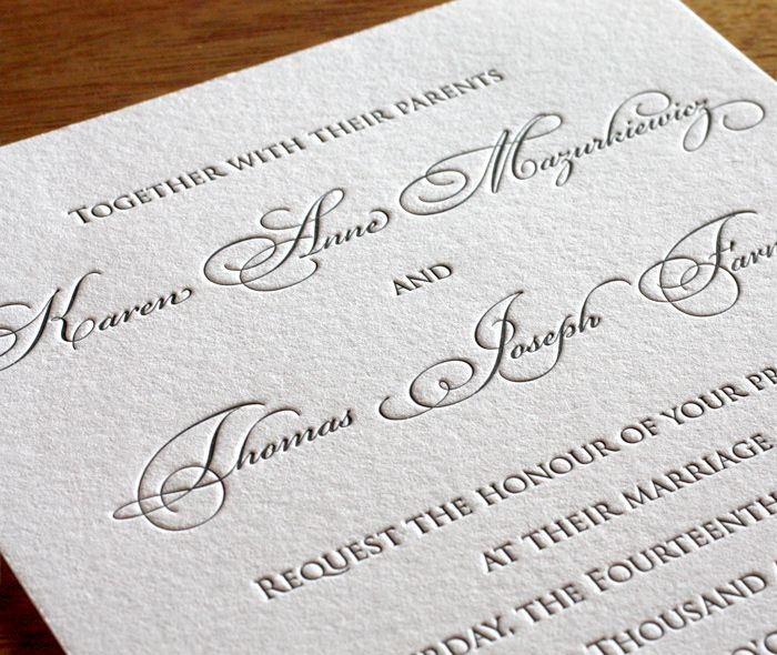 Fonts For Wedding Invites