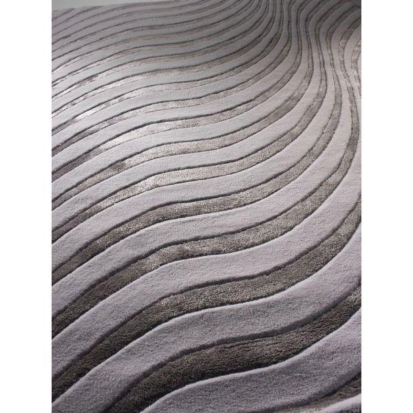 """Ковер """"Волны"""" светло-серого цвета итальянского производства с доставкой по России. Уникальные итальянские ковры по доступным ценам в интернет-магазине """"Маркис"""". #carpet #carpets #rugs #rug #interior #designer #ковер #ковры #дизайн  #marqis"""