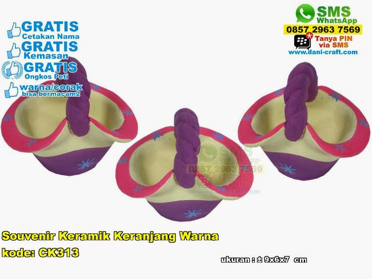 Souvenir Keramik Keranjang Warna WA/ SMS Center: 0857.2963.7569 Telp/SMS/WA: 0813.2660.1110 (Telkomsel) 0857 4384 2114 (Indosat) 0896.296.77.660 (Tri) 0819.0403.4240 (XL)  PIN BBM: 59E 8C2 B6. #keramikkeranjang #keramikkeranjangmurah #keramikkeranjangunik #keramikkeranjanggrosir #souvenirkeramikkeranjangwarna #souvenirperikahankeramikkeranjang #souvenirkeramikkeranjangmurah #jualkeramikkeranjang #grosirkeramikkeranjangmurah #souvenirbahangerabah #jualsouvenirkeranjang #jualkeranjanggerabah…