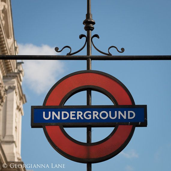 London Photograph The Underground Sign Great by GeorgiannaLane