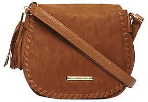 Womens windsor tan tan whipstitch saddle bag from Dorothy Perkins - £20 at ClothingByColour.com