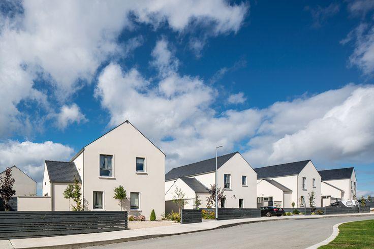 A new housing development in Dublin rendered in the stunning Polar White.