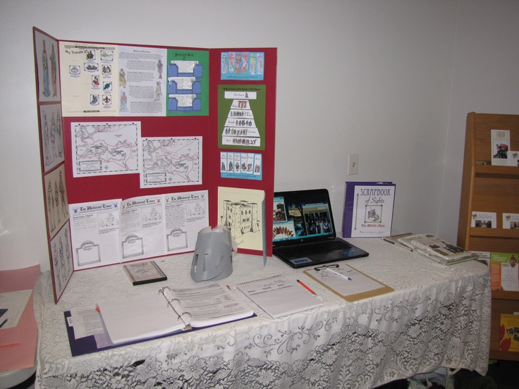 My Display At An Open House For A Homeschool Co Op I Am Using In The Woods Passport To Middle Ages As Curriculum And Grades