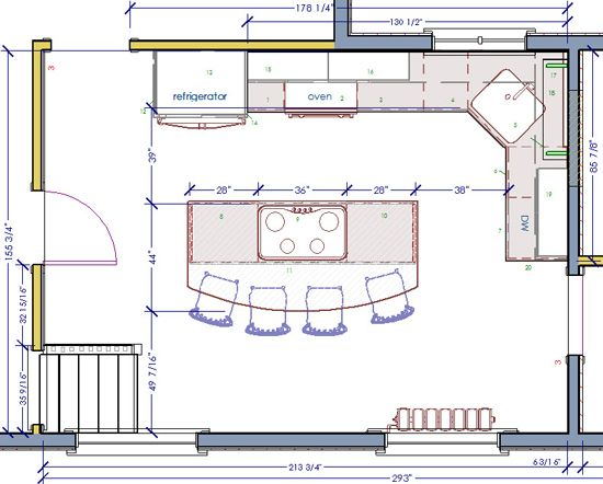 Craftman Kitchen Floorplan. Kitchen Floor PlansKitchen ...