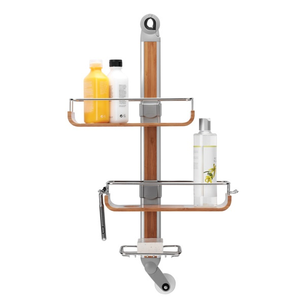 The Container Store > simplehuman® Flip & Fit Bamboo Shower Caddy  WANT THIS!!!