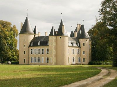 French Chateau for sale in 18 - Cher , Val de Loire France. This remarkable Château is situated in attractive countryside, a mixture of fields and woods, some 280 km to the south of Paris. The property is well placed for easy motorway access. The Château stands in a magnificent 163-ha informal park with mature trees, lakes and moats. TOTAL Acres: 1694.42 - There is a second 6-roomed house in the grounds...