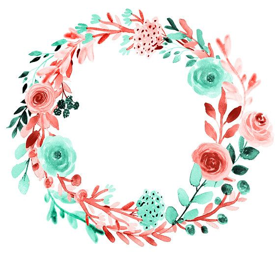 Floral Clipart Spring Wreath Wedding