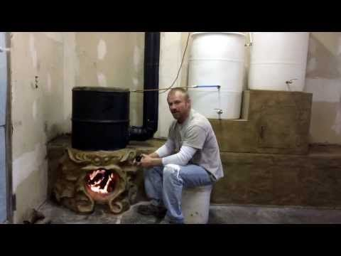Bulldog Rocket Stove Fireplace Thermal Siphon Water Heater part 6 - YouTube
