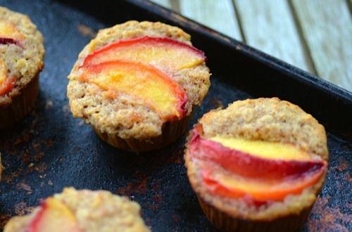 pfirsich-haferflocken-muffins