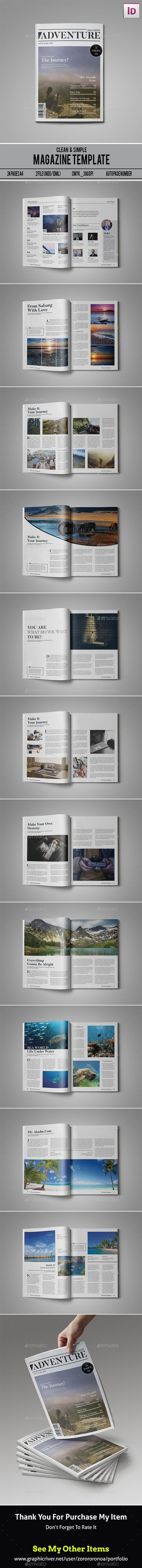 Multipurpose Magazine Template InDesign INDD. Download here: http://graphicriver.net/item/multipurpose-magazine-template/15855389?ref=ksioks