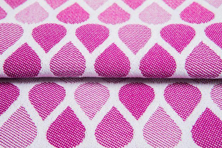Raindrops Ruby #weavingstudio #fabricart #cottonfabric #raindrops #ruby #pink
