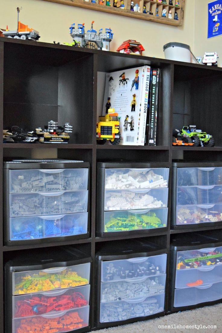 Lego organization and storage hacks - One Mile Home Style