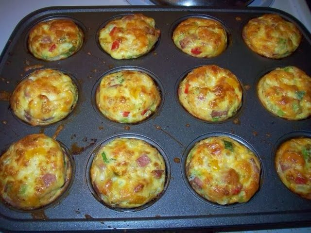 Quick and easy low calorie breakfast : Mini omelets that you can make on the weekend and eat all week! Only 37 calories each