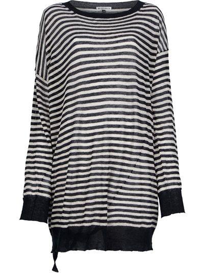 ANN DEMEULEMEESTER Contrast Stripe T-Shirt