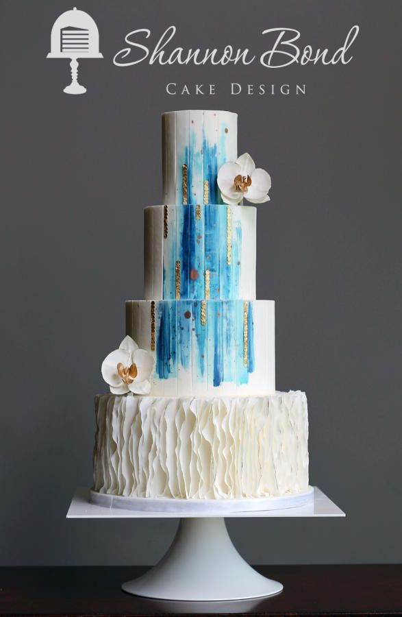 Modern Bride Wedding Cake by Shannon Bond Cake Design - http://cakesdecor.com/cakes/261716-modern-bride-wedding-cake