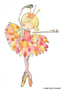 Petal Ballet Girl Print; make skirt with silk petals, or with puzzle pieces