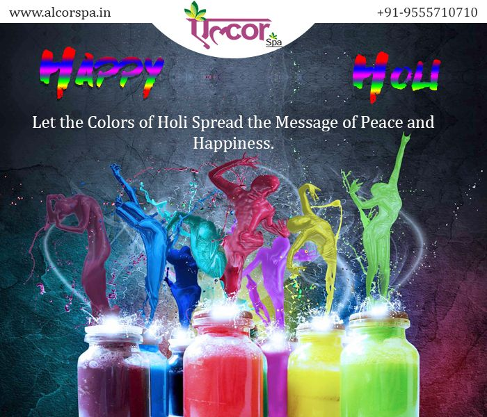 #AlcorSpa wishes you and your family a very Happy Holi! Rejuvenate and refresh yourself this Holi by grabbing special offers at Alcor Spa. #CasmaraFacialsPackage #LotusHerbalPackage #SamplePackage For booking call : +91-9555710710