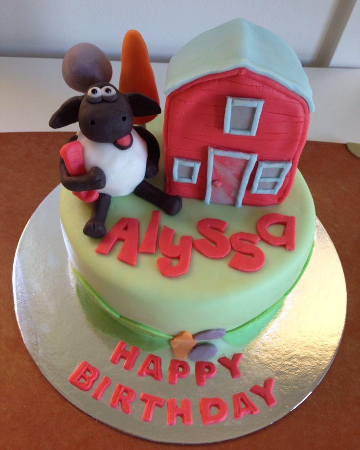 Shaun the Sheep cake - cake #2