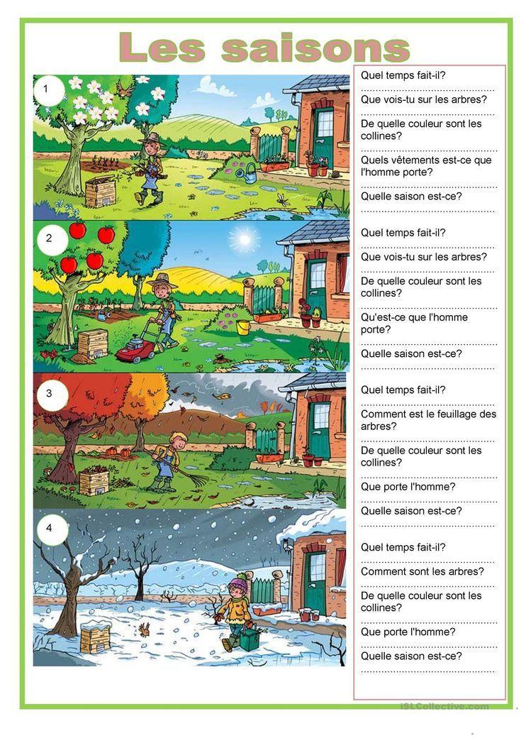 Oneclick print document Französisch lernen, Schule