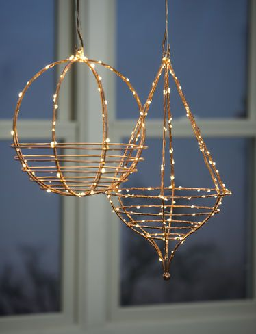Copper Hanging Basket for Flowers, Succulents and Holiday Displays