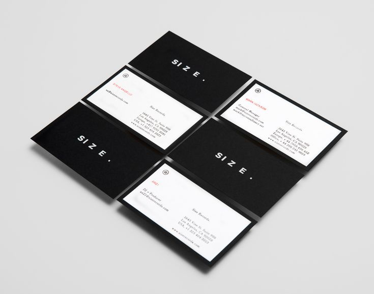 Logo and business card with white foil detail designed by Face for Steve Angello's independent record label Size