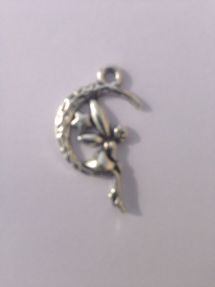 Moon Faeries Charm, Silver finish, for jewellery making by FionasHobbyHut on Etsy