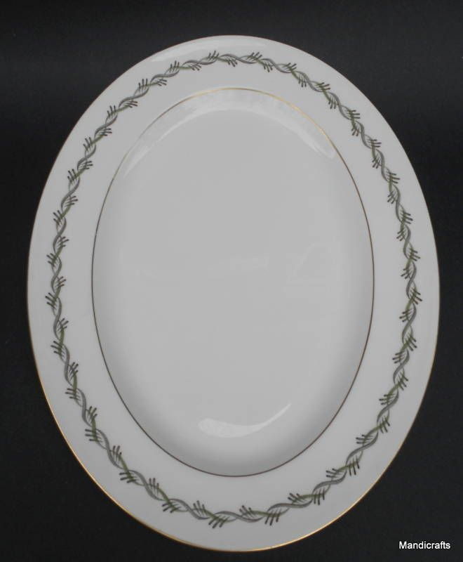 Details About Wedgwood Uk Oval Serving Platter Plate Chiltern W4284 Twisted Ribbon Bone China Plates Wedgwood Dinnerware Tableware
