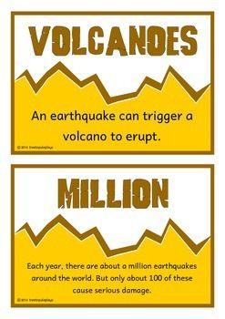 Earthquakes Fact Cards
