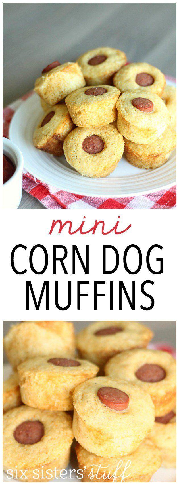 My kids LOVE these Mini Corn Dog Muffins from SixSistersStuff.com!