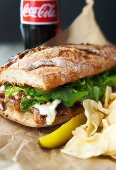 Roast Pork Sandwich, caramelized onions, garlic mayo: Puerto Ricans LOVE this sandwich too!