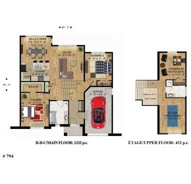 794 - Le Galère Bungalow Maison à paliers Plans Design Plans de - plan de maison design
