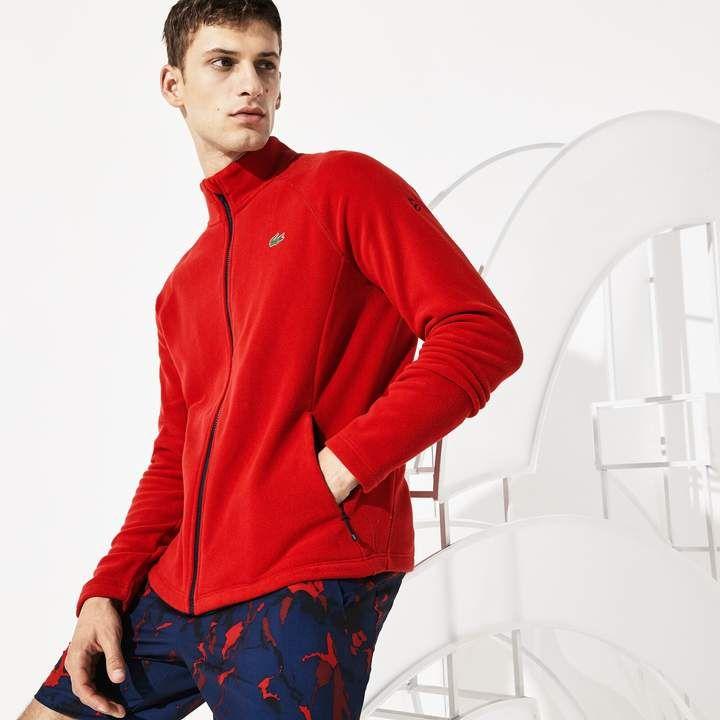 Men S Sport Novak Djokovic Tech Fleece Jacket Lacoste Clothing Fleece Jacket Tech Fleece