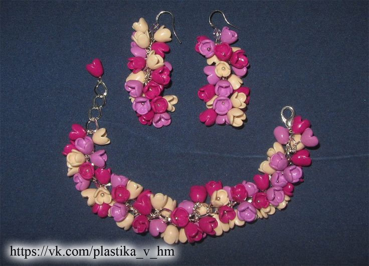 HM polymer clay set bracelet and earrings.