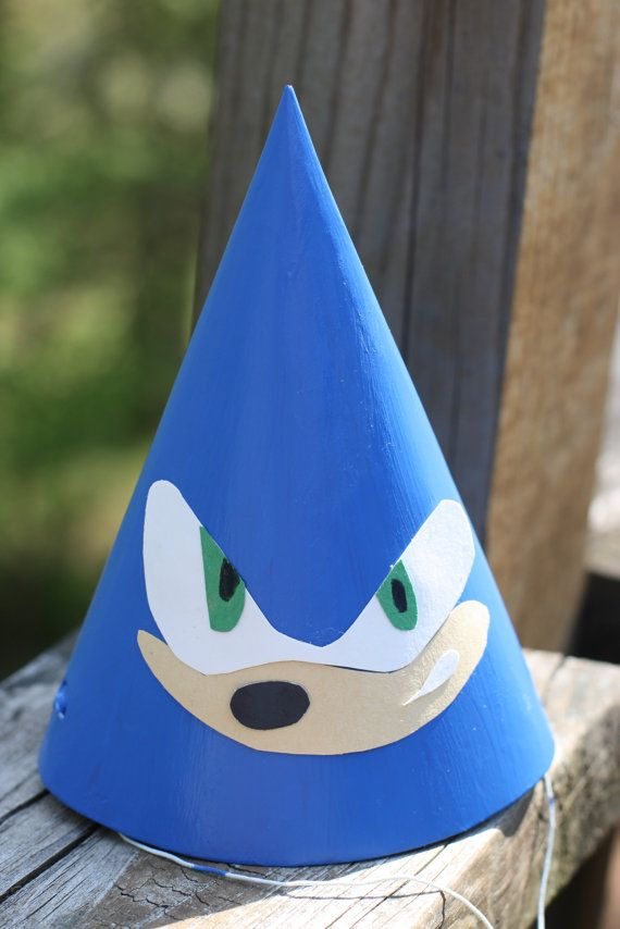Set of 5 Sonic the Hedgehog Birthday Party Hats