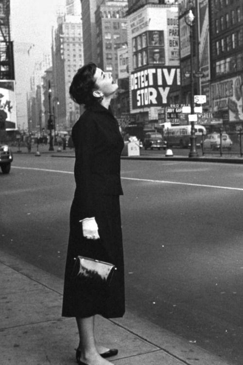 Audrey Hepburn photographed in New York City, 1951.