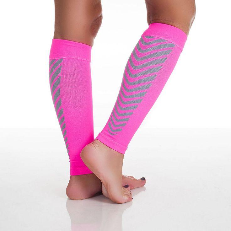 Calf Compression Running Sleeve Socks - Adult, Pink