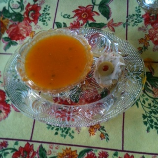 My cold heirloom tomato soup | Kiss The Cook | Pinterest