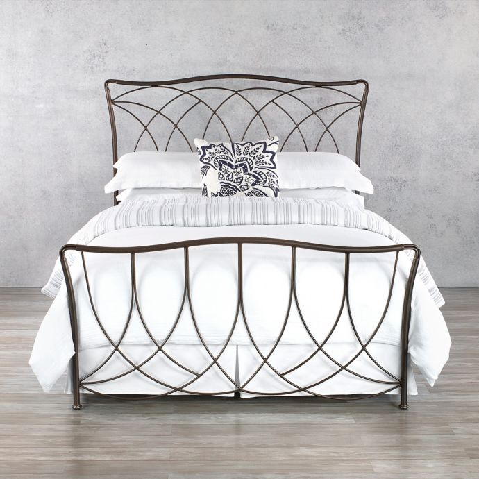 Marin Iron Bed Frame In Aged Steel Bed Bath Beyond Iron Bed