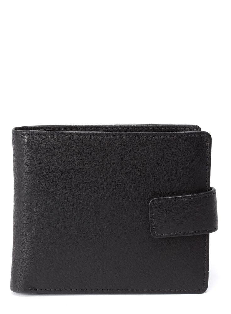 Black Leather Bilfold Wallet, £12 #FathersDay #FathersDayGifts #FathersDayGiftIdeas #MensFashion