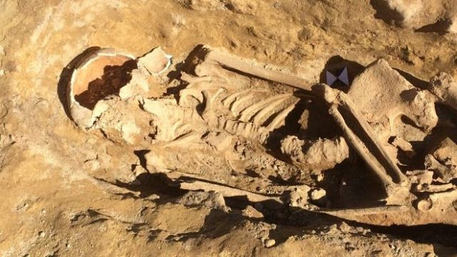 Roman skeletons unearthed at West Yorkshire building site, said to be from 200-300 AD,  UK
