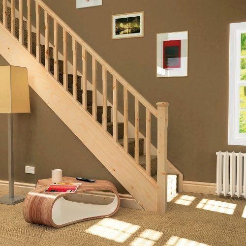 Perfect Pine Stair Kit   Staircase Refurbishment Kit Hand Rail, Baserail U0026 41mm  Spindles